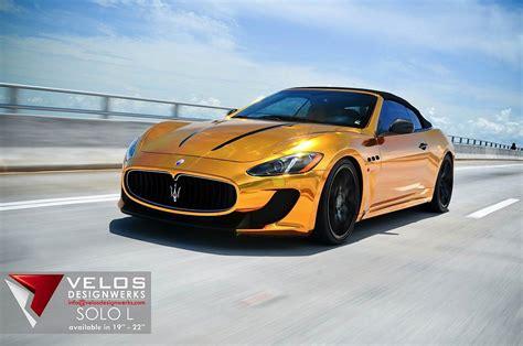 gold maserati car golden maserati grancario by velos designwerks