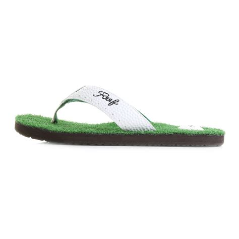 reef golf sandals mens reef mulligan 2 green golf inspired flip flops sz