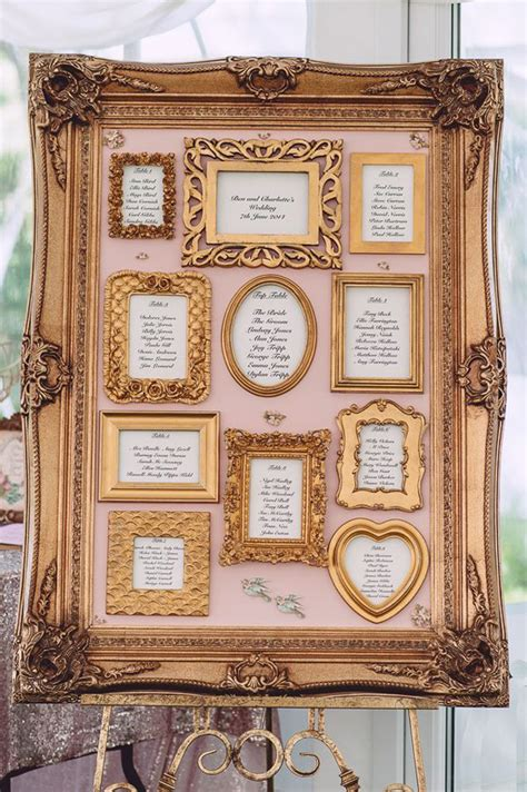 wedding seating plan picture frames 17 unique seating chart ideas for weddings mon cheri bridals