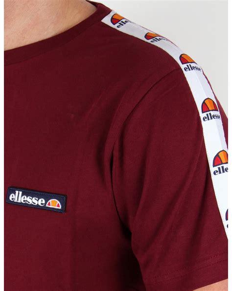 Tshirt Ellesse New One Tshirt ellesse merlo taping t shirt burgundy mens
