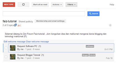 tutorial membuat web forum tutorial membuat forum untuk blogger faiz tutorial