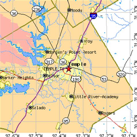 where is temple texas on the map map of temple tx area pictures to pin on pinsdaddy