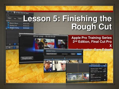 final cut pro lessons final cut pro x weynand certification lesson 5