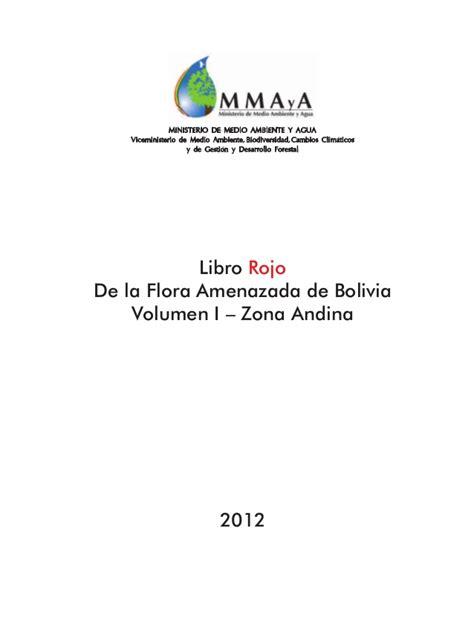 libro rojo de la flora andina de bolivia libro rojo de la flora andina de bolivia