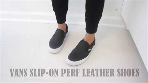 Slip This On by Vans Slip On Perf Leather Shoes