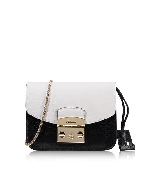 Furla Metropolis Mini Crosbody Include Box furla metropolis chalk onyx leather mini crossbody bag