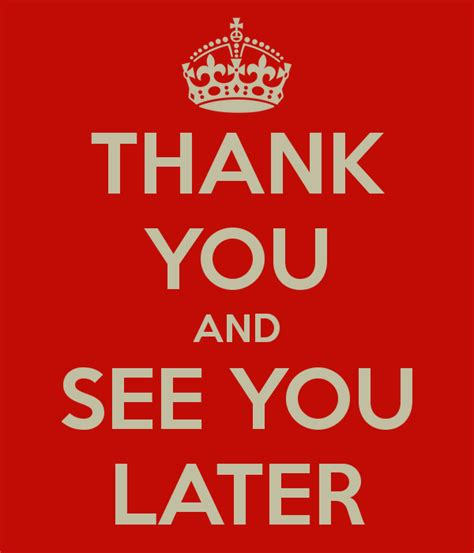 See You a warm farewell or a quot see you later quot agroknow