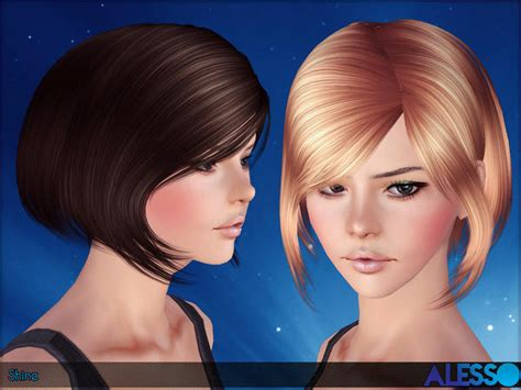 short female hair sims 3 anto shine hair