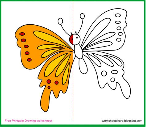 Free Coloring Pages For Kids Online Online Butterfly Paint The Other Side Free Download Free Drawing For