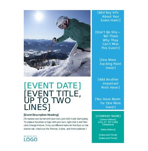 free event flyer templates word template design