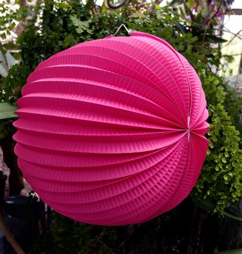 How To Make Accordion Paper Lanterns - 12 quot fuchsia accordion paper lantern 3 pack ebay