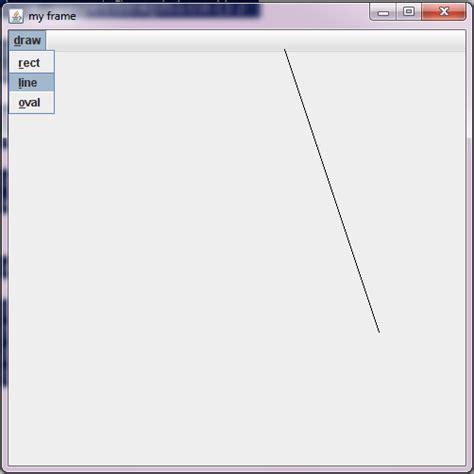swing menu bar java programs creat menu bar in java swing and draw
