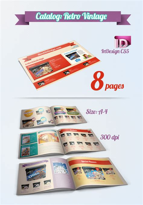 Catalog Template Indesign Freebie Catalogue Brochure Templates