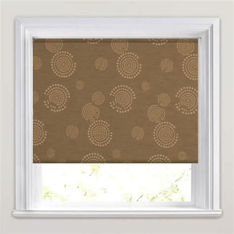 Contemporary Brown Beige Circle Patterned Blackout | contemporary brown beige circle patterned blackout