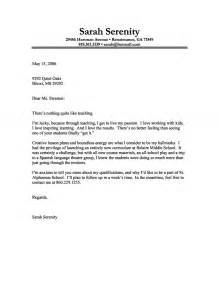 Cover Letter Example of a Teacher with a Passion for Teaching