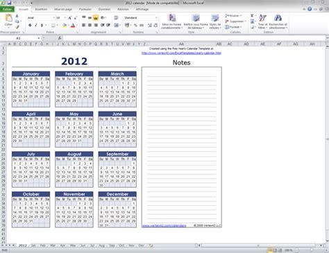 Calendrier 2012 Excel Mod 232 Le De Calendrier Mensuel Excel T 233 L 233 Charger