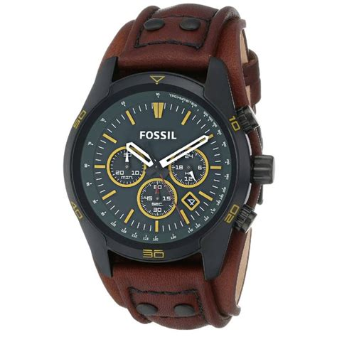 Fossil Gree Brown fossil s coachman chronograph forest green brown leather ch2923 free shipping