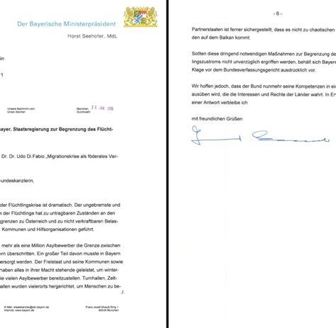 Mit Freundlichen Grã ã En Schreibt Nicht Mehr Seehofer Schreibt Merkel Liebe Angela Geltendes Recht Wird Nicht Beachtet Welt