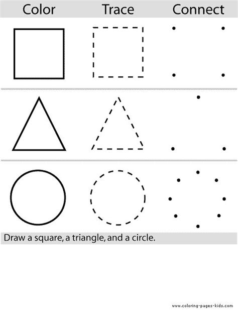 free printable learning shapes best 25 preschool worksheets ideas on pinterest