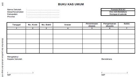 contoh format buku kas umum bendahara pengeluaran format buku kas umum bos k 3 deuniv