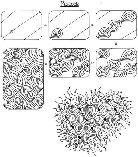 Zentangle Pattern Peacock | peacock pattern art zentangle patterns pinterest