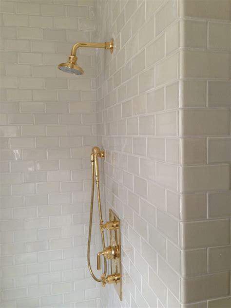 Kitchen Design Homebase light gray subway tiles transitional bathroom