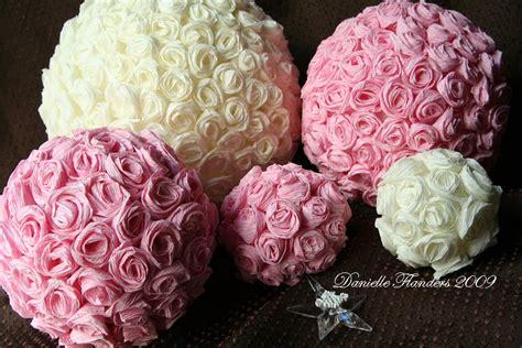 How To Make Crepe Paper Flower Balls - crepe paper roses