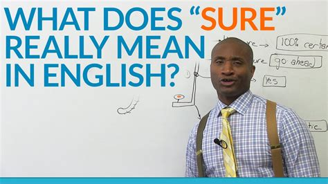 What Does Images In English | what does the word sure really mean in english youtube