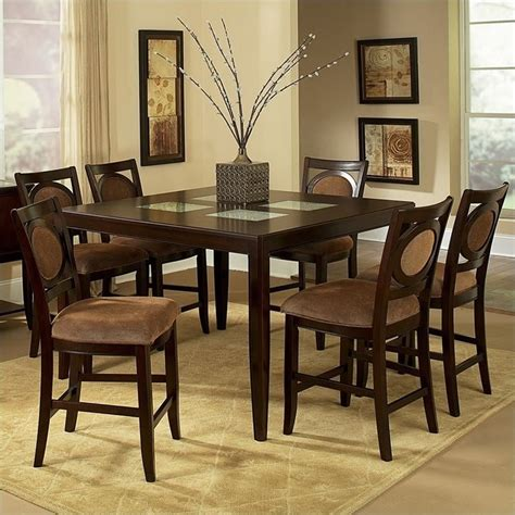 7 piece counter height dining room sets steve silver company montblanc 7 piece counter height