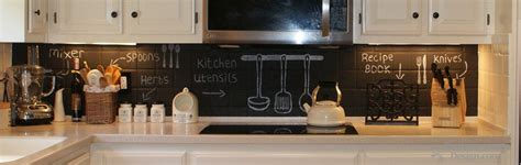 Chalkboard Kitchen Backsplash Chalkboard Paint Backsplash