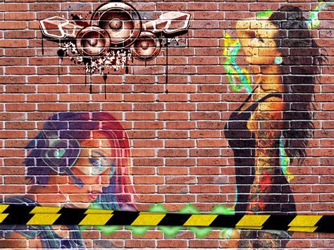 brick wallpaper with graffiti graffiti wall graffiti brick wall