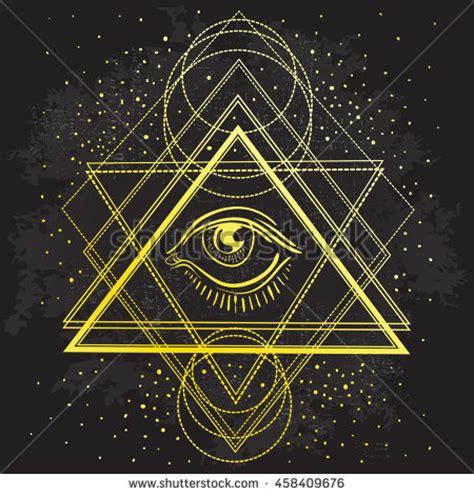 sacred geometry symbol all seeing eye stock vector vector all seeing eye symbol on stock vector 458409676