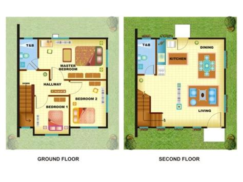 2 Story 4 Bedroom House Plans 5 contoh gambar rumah minimalis lantai 2 modern