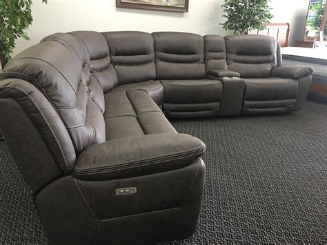 power reclining sofa with usb power reclining sectional with usb ports my furniture place