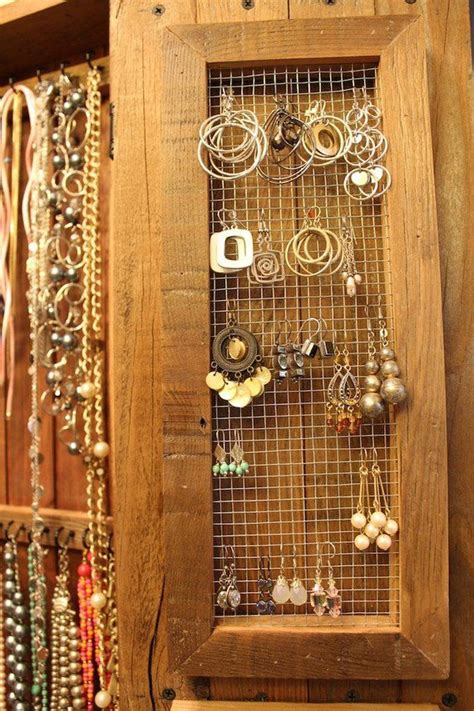 necklace holder organizer earring display jewelry storage