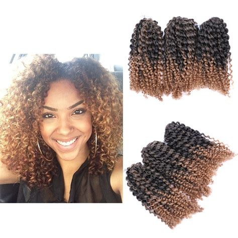 ombre human braiding hair 8 quot ombre afro kinky curly crochet braids marlybob braid