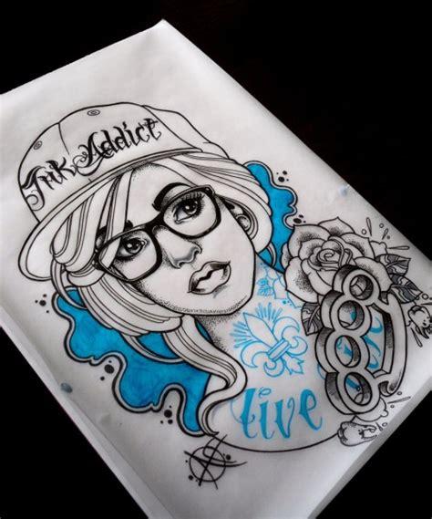 new school girl tattoo designs aaron frost tattoo tumblr