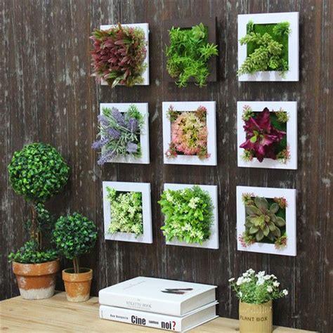 home garden decoration 3d artificial plant simulation flower frame wall decor