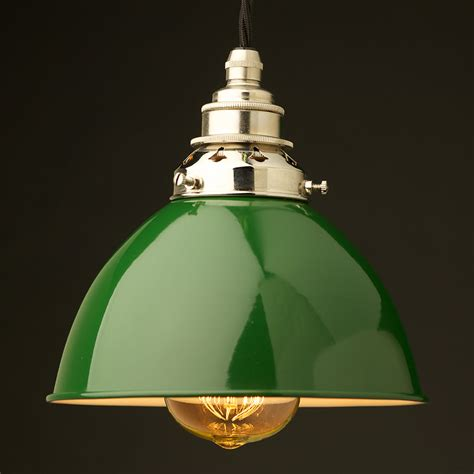 Green Enamel Dome E27 Pendant Green Pendant Lighting