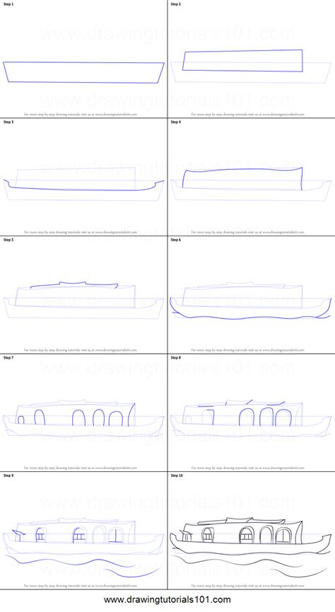 how to draw a boat house how to draw a boat house printable step by step drawing