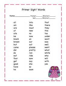 owls primer sight words printable preschool printables