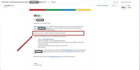email zoho forward zoho emails to another account