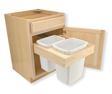 cabinet trash can drawer trash bin pull out drawer dimensions on