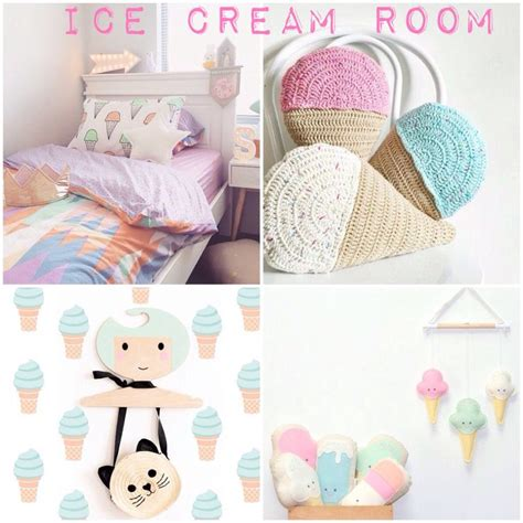 ice cream themed bedroom desing time summer moodboard mommo design