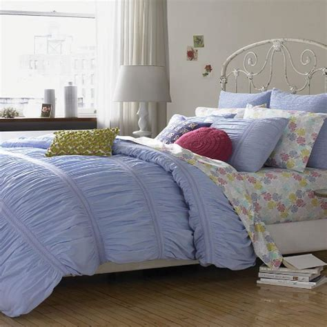 smocked comforter style co smocked blue 240t cotton full queen duvet cover