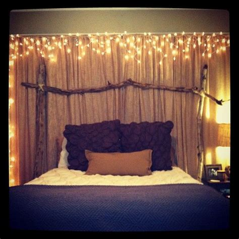 lighted headboard best 25 bed canopy with lights ideas on pinterest