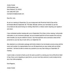 Employee Termination Letter Template by 9 Termination Letter Templates Free Sle Exle