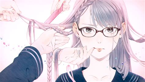 anime girl with glasses wallpaper anime girl full hd wallpaper and background image