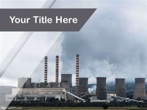Free Refinery Powerpoint Templates Myfreeppt Com Air Pollution Ppt Templates Free