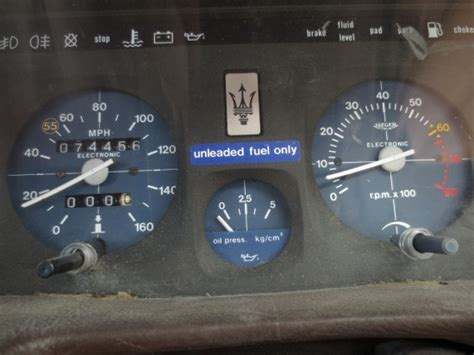 maserati biturbo clock junkyard find 1984 maserati biturbo the truth about cars